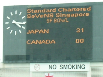 Japan 31 Canada 0