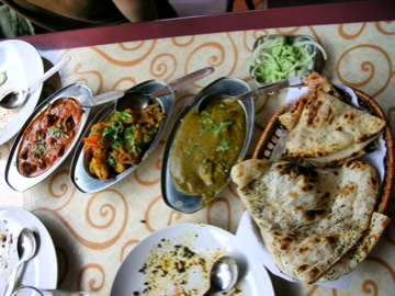 Indian food at Khansama restaurant