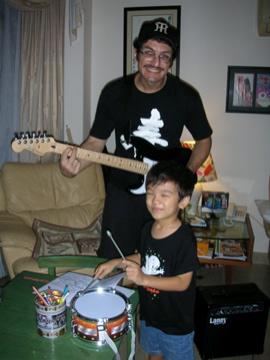 w. guitar Zen drums