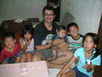 Peter with five kids