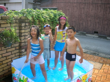 four in mini pool