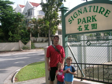 three in front of Signature Park