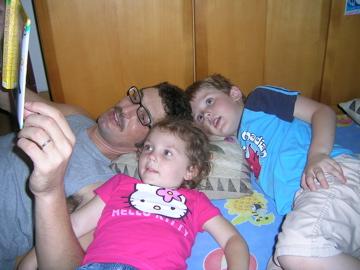 Peter reading to kids