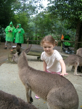 Lauren with Kangaroo