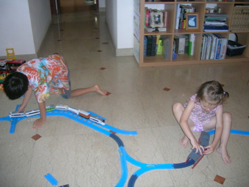 living room trains