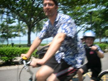 Ralph and Evan on the bike