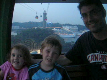 three in cable car