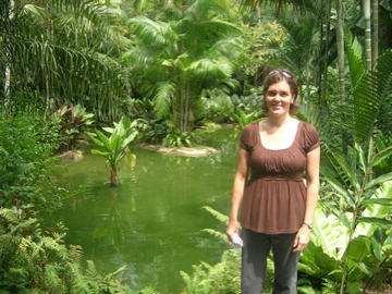 Nicole at botanical garden