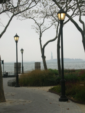 Battery Park and Statue of Liberty