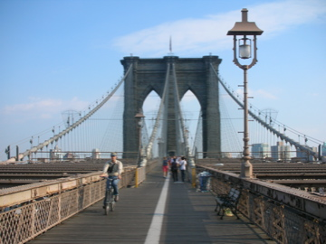 up the Brooklyn Bridge