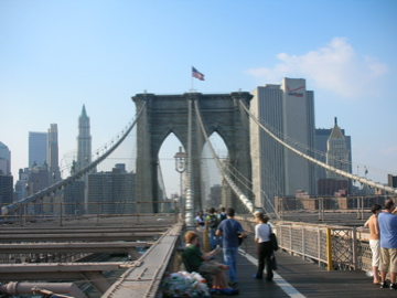 back down Brooklyn Bridge