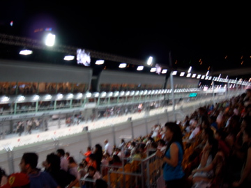 the Formula 1 track