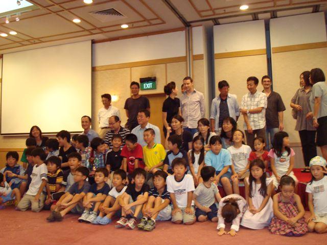 group of softball families