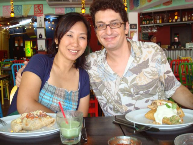 Peter and Naoko at Cafe Iguana