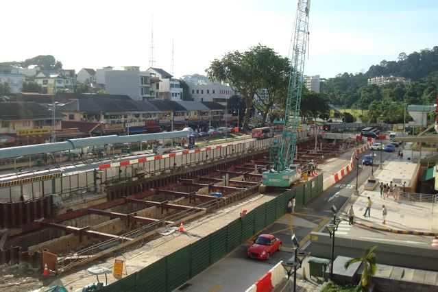 Beauty World MRT station construction site, Upper Bukit Timah, Part 1