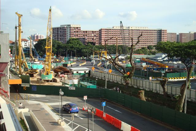 Beauty World MRT station construction site, Upper Bukit Timah, Part 2