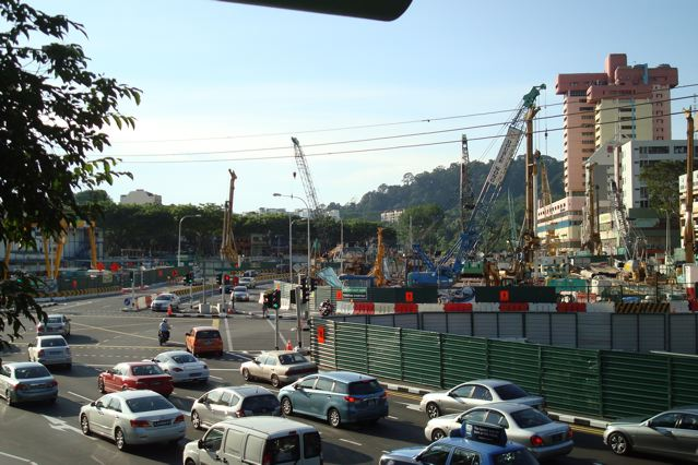 Beauty World MRT station construction site, Upper Bukit Timah, Part 3