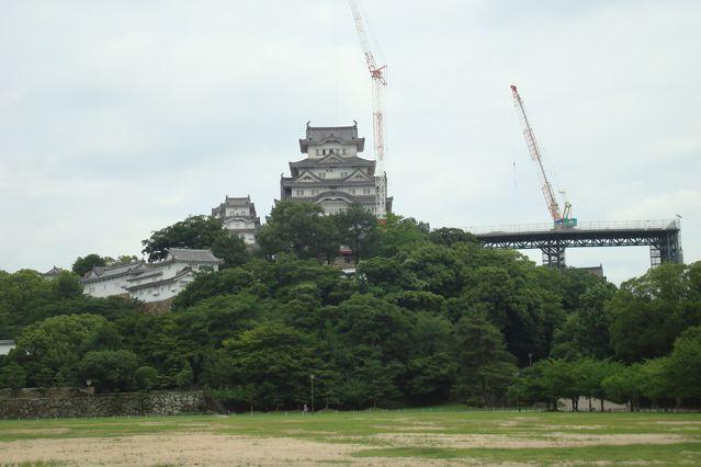 Himeji castle construction