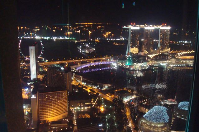 Great view of Singapore from the New Asia club, atop Swissotel Stamford