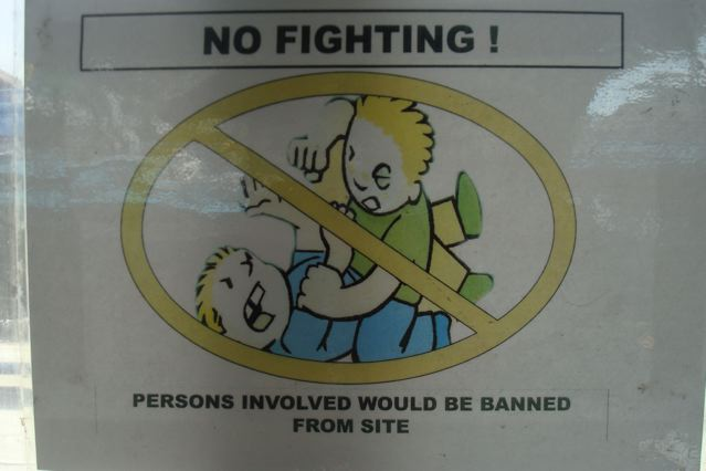 No Fighting!