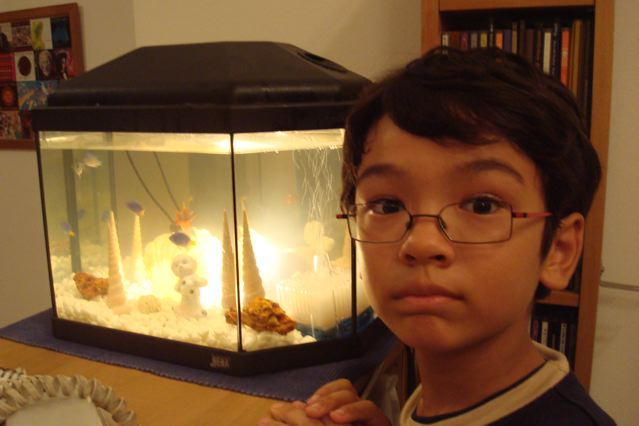 Zen and his new aquarium