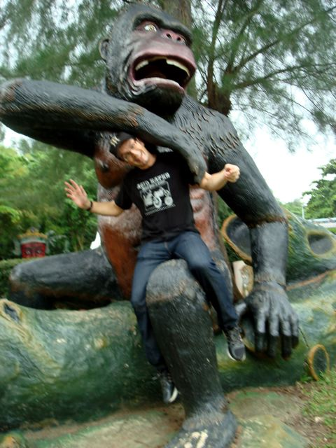 Peter and the gorilla!
