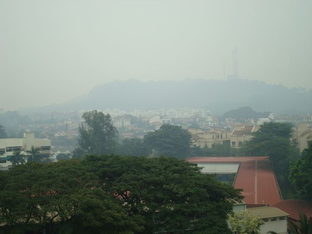 Bukit Timah with haze, October 20th, 2010