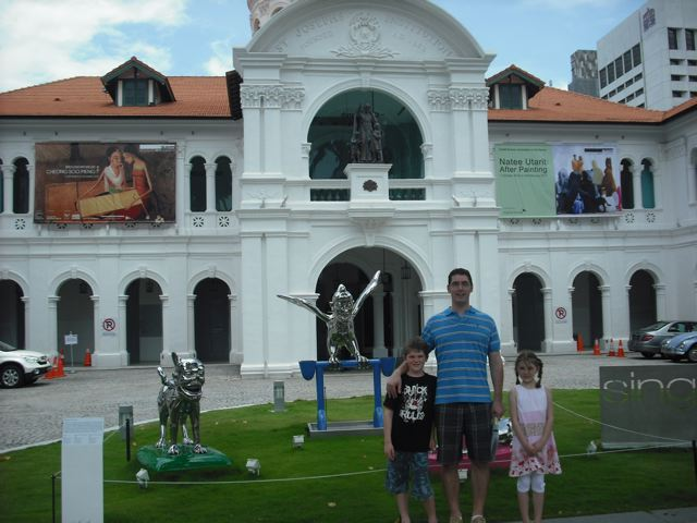 Ralph, Lauren and Evan in front of the Singapore Art Museum
