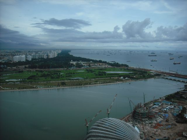 View from the Marina Bay Sands roof