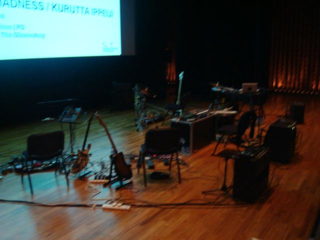 Pre-show setup