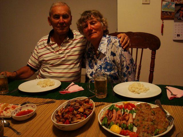 Oma, Opa, dinner