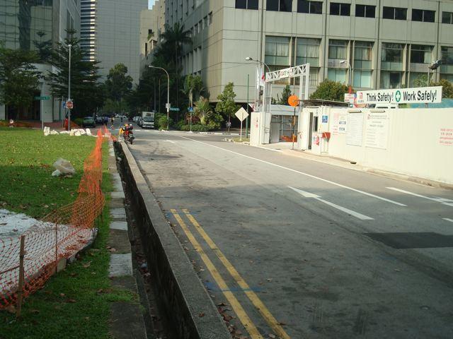 No pedestrian path at all