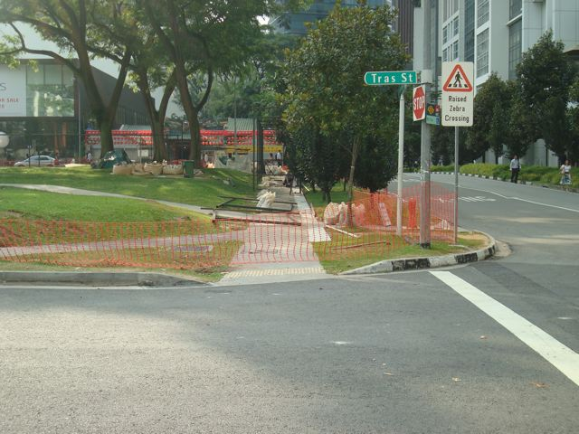 Pedestrian path blocked, part 2