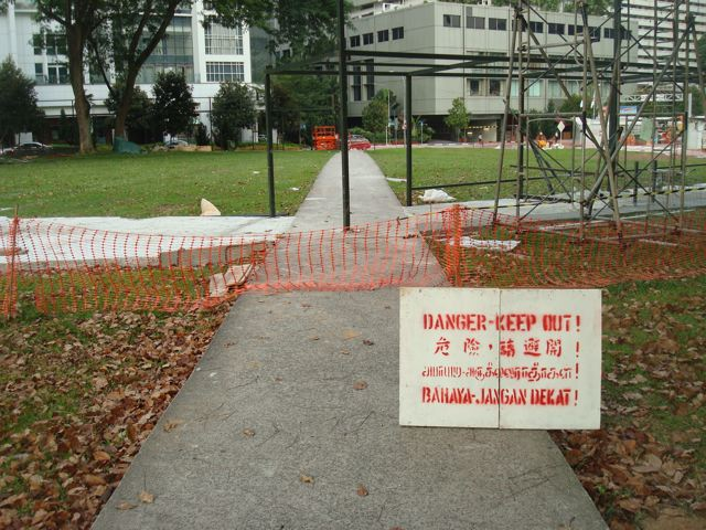 Pedestrian path blocked, part 1