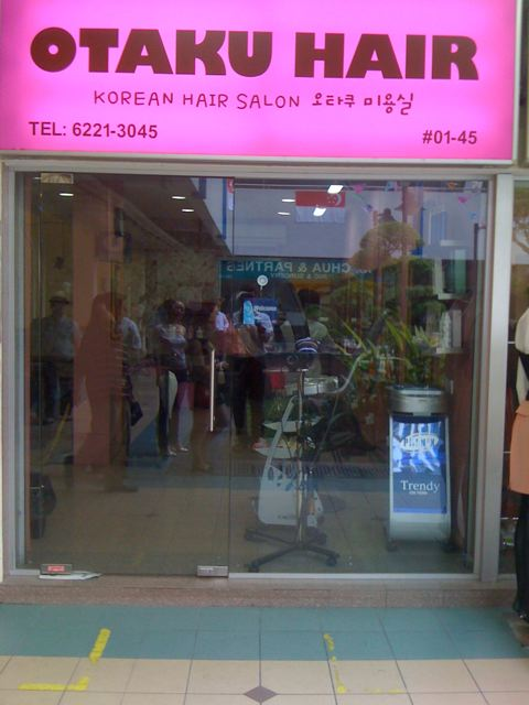 Go to Tanjong Pagar to have your hair cut by an Otaku!