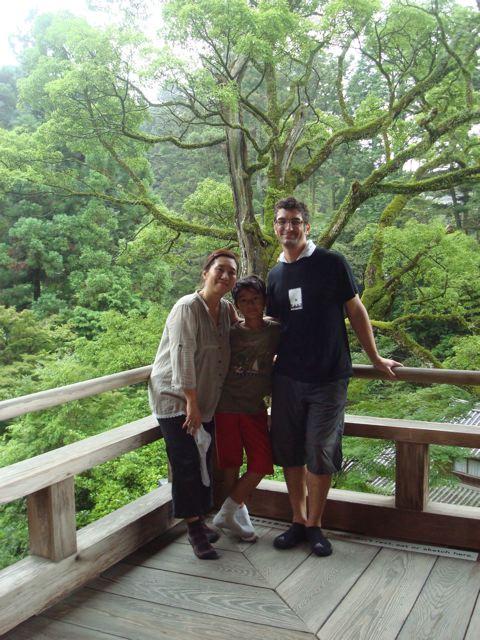 Peter, Naoko and Zen on Mt Shosha in Himeji