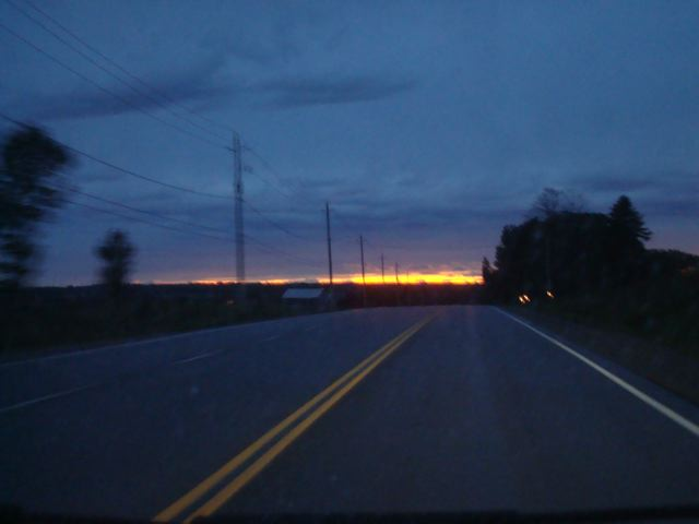 Ontario highway sunset