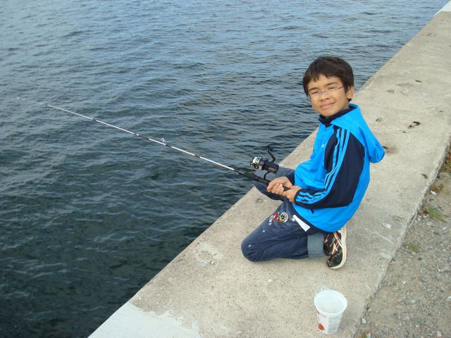 Zen gives fishing a try