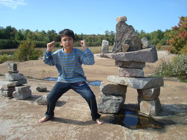 Zen posing as Inuksuk