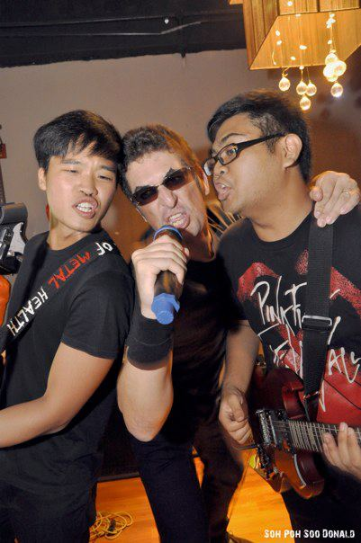 That's me doing some guest vocals for the Misfit Ramones
