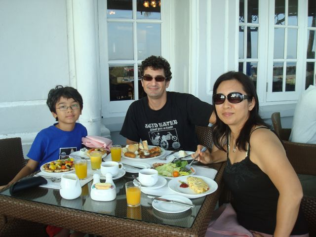 We three resort-dwellers...