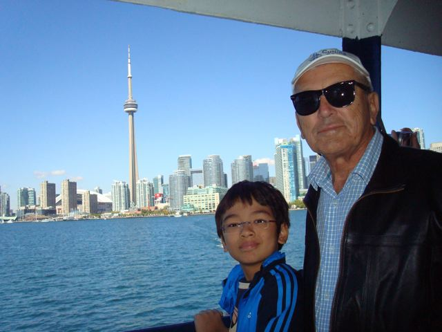 Toronto harbour, with Opa and Zen
