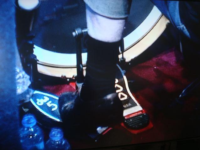 Ginger Baker's stockinged feet...