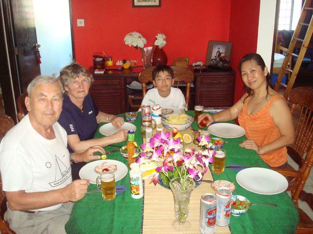 A family Christmas dinner