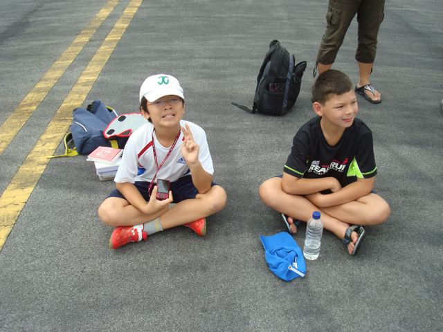 Zen and his friend at the Singapore Air Show
