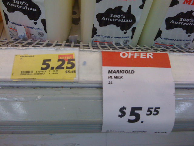 UP $5.25; special offer $5.55. Yes. How clever!