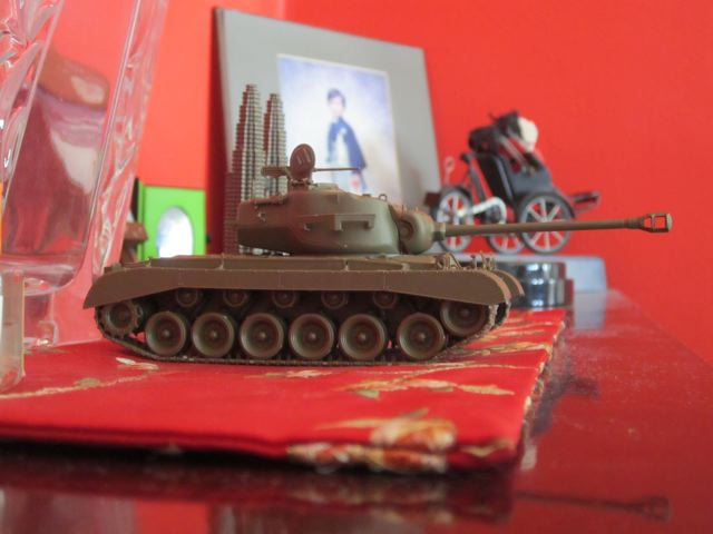 Zen took this picture of his new M26 Pershing tank Tamiya model. Great shot!