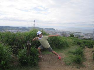 Mountain climbing in rural Himeji