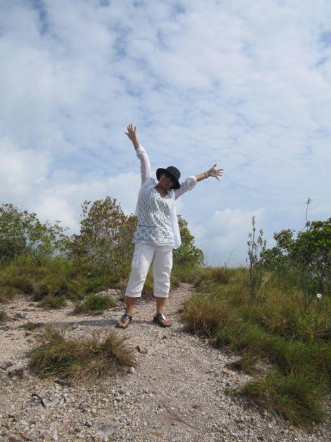 Naoko atop Bukit Rawa
