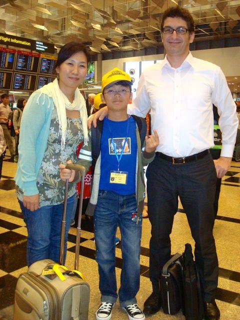 Zen at the airport - going to Beijing!